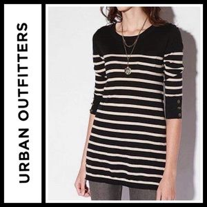 Urban Outfitters BDG 3/4 Sleeve Striped Tunic